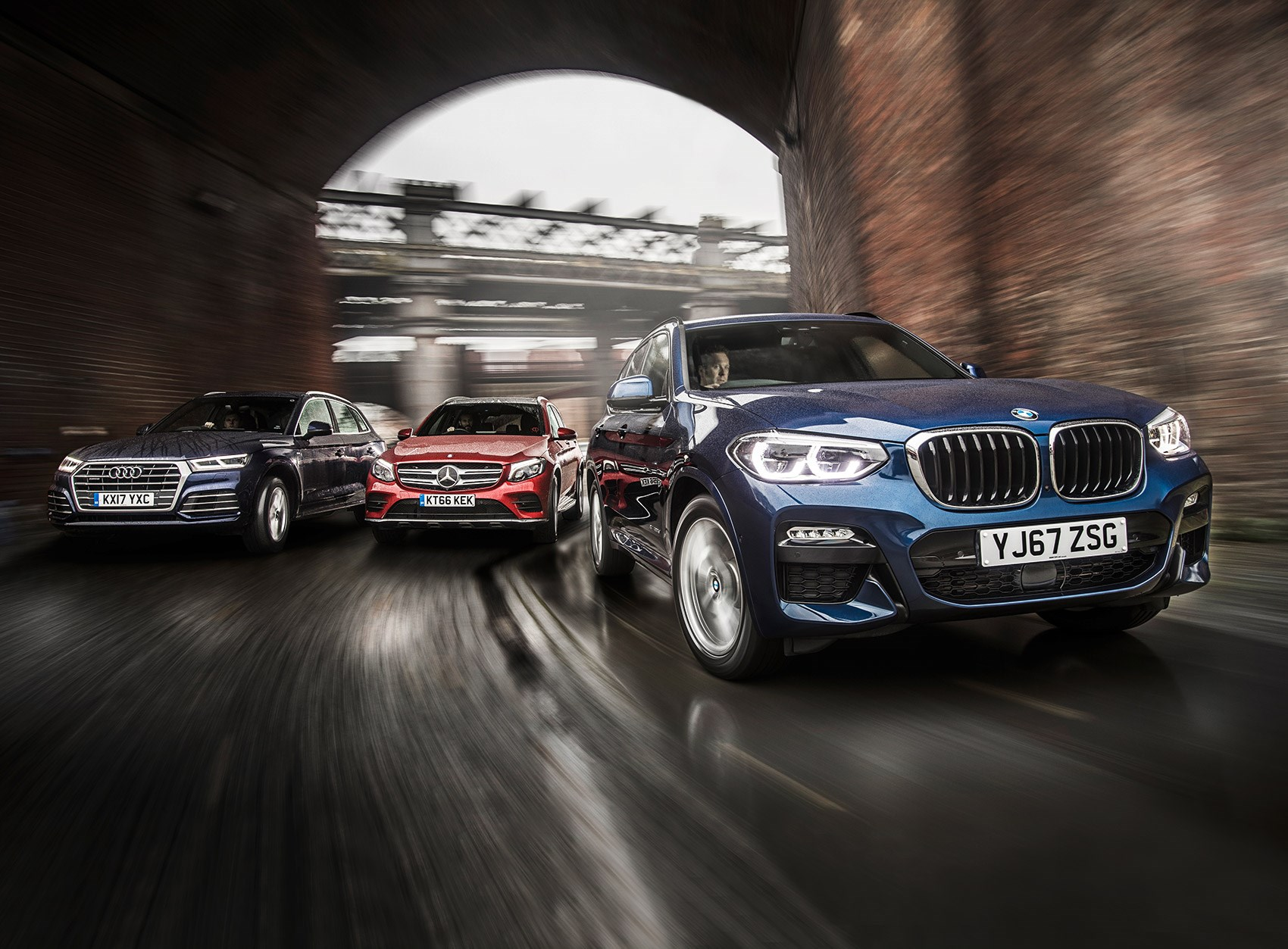 New BMW X3 vs Audi Q5 vs Mercedes GLC triple test review