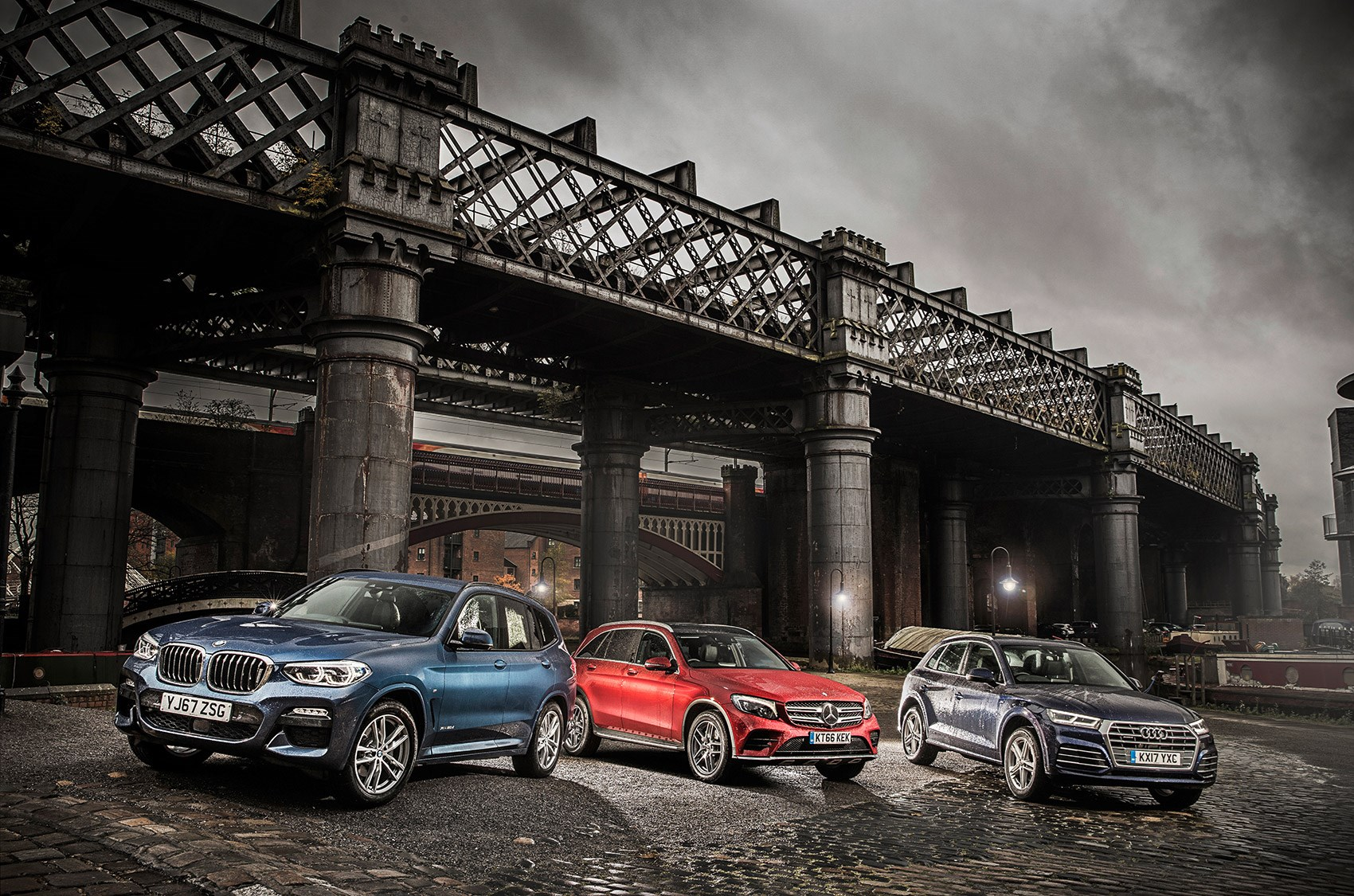 New bmw x3 vs audi q5 vs mercedes glc triple test review for Bmw and mercedes benz
