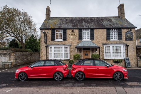 Quattro styling pack on the right. Many £ difference
