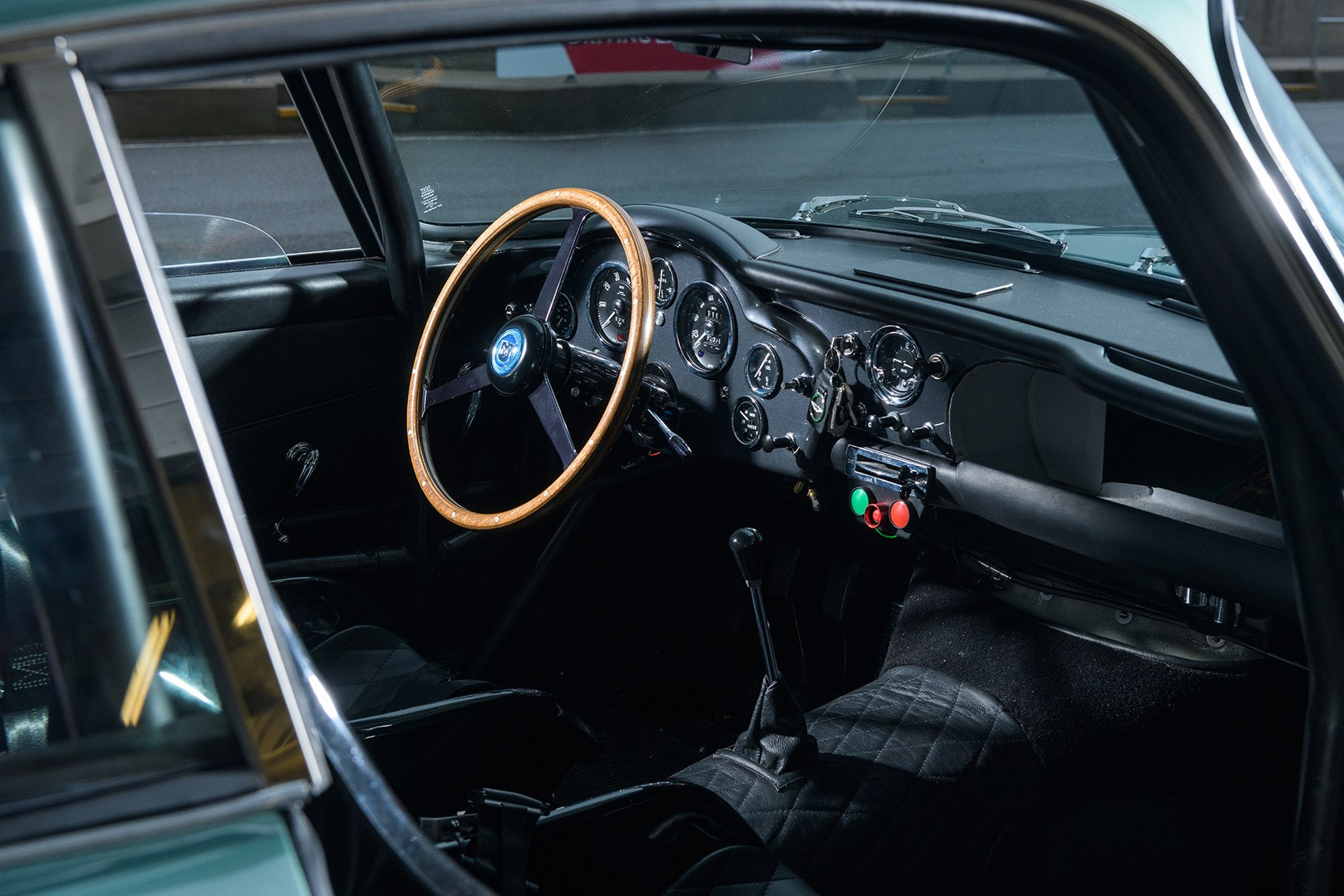 Inside the Aston Martin DB4 GT Continuation cabin