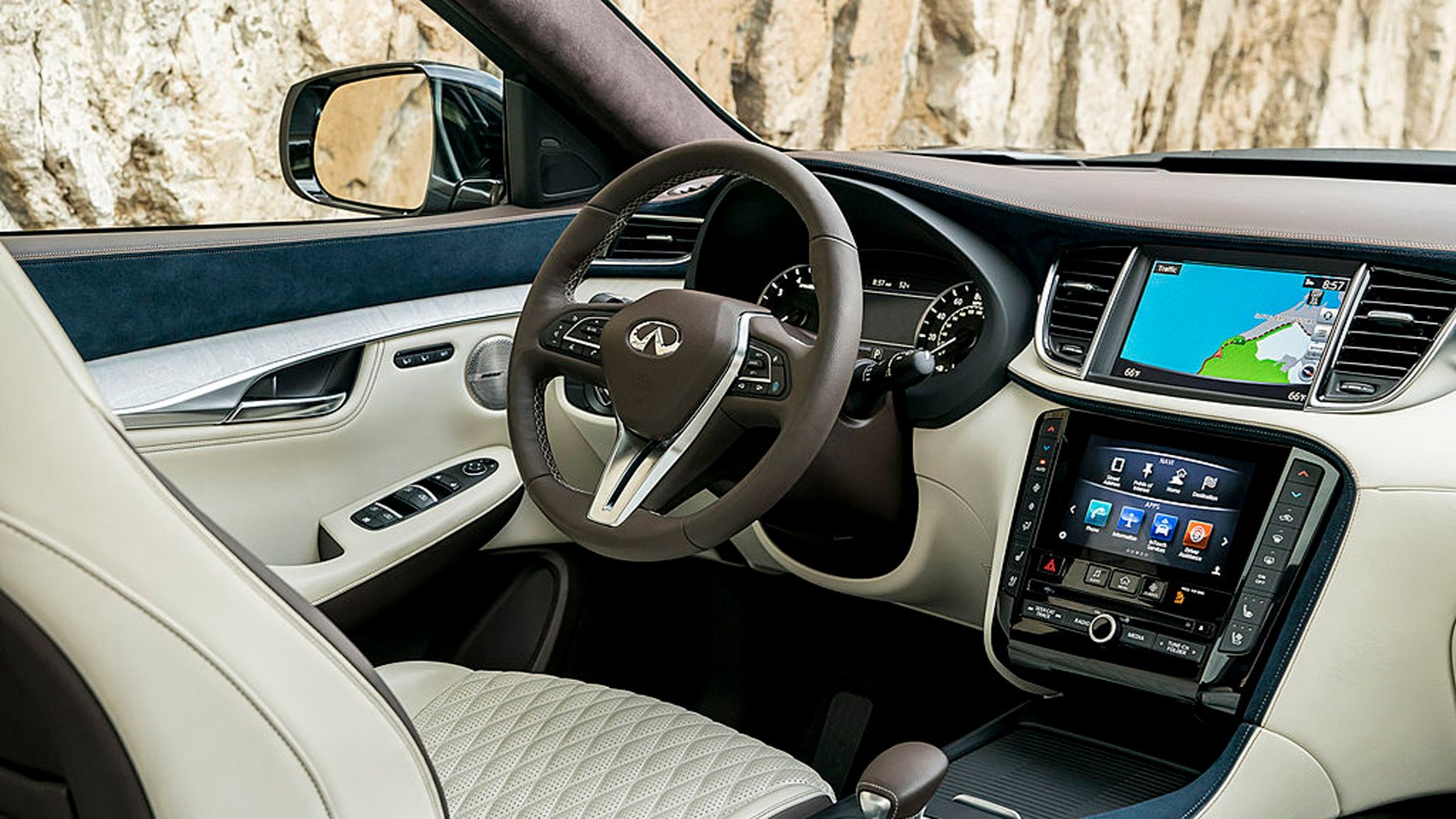 seats seating infiniti leather canada design highlights front interior en suv