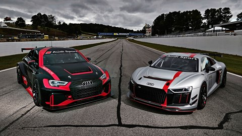 Audi RS3 LMS and Audi R8 LMS GT4