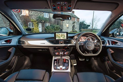 Inside the cabin of our Audi RS6 Avant