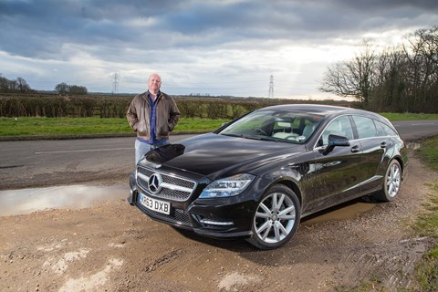 Keeper Greg Fountain and CAR magazine's Mercedes CLS Shooting Brake