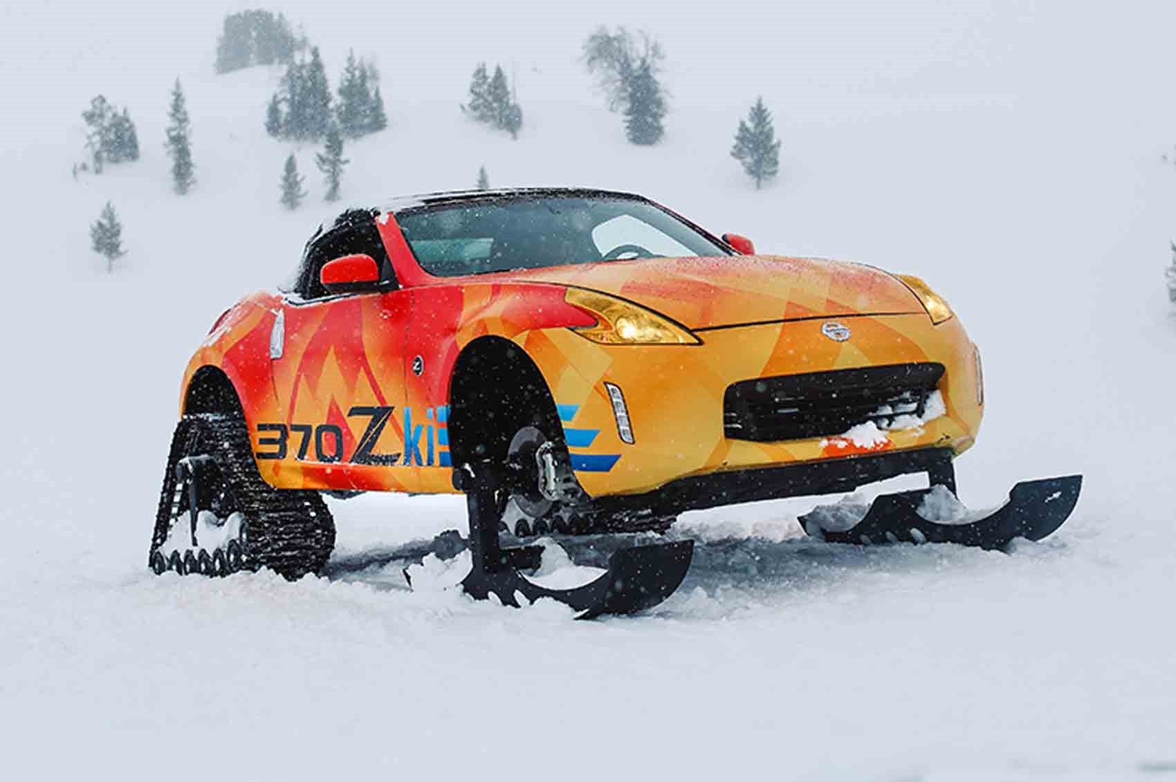 Nissan 370Zki revealed in Chicago Snowmobile with an open-top twist