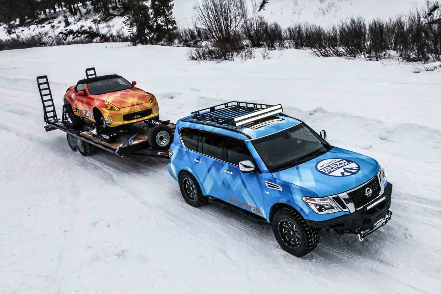 Get your snow drift on with the Nissan 370Zki snowmobile ...
