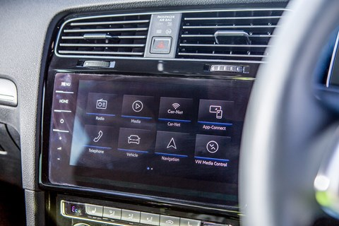 VW Golf GTE infotainment and touchscreen