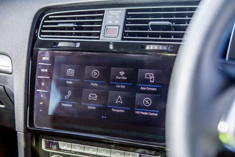 VW Golf GTE infotainment and touchscreen