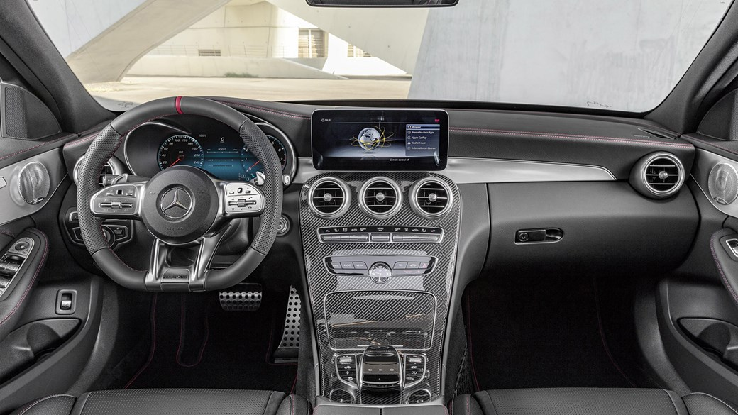 Wonderful Inside The Cabin Of The Mercedes AMG C43: A Carbon Heavy Interior