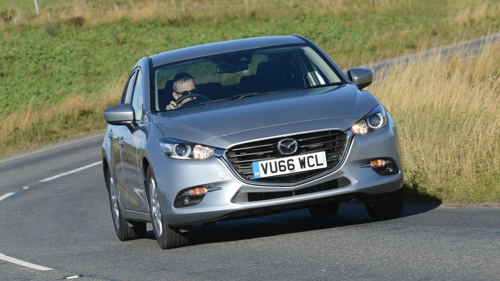 Mazda 3 Fastback front cornering