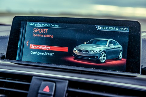 BMW 4-series driving modes