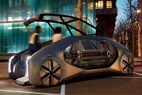 Renault EZ-Go concept features a very odd door arrangement