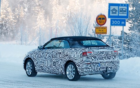 VW T-Roc Cabriolet spy photos 2020