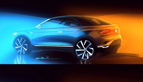 An official VW T-Roc Cabriolet rendering by Volkswagen design department