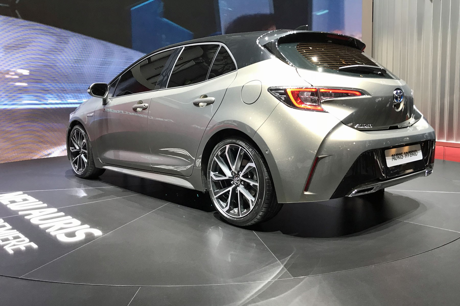 Rear Of The Y New Toyota Auris At 2018 Geneva Motor Show