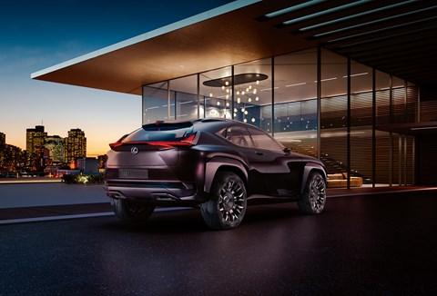 The 2016 Lexus UX concept car