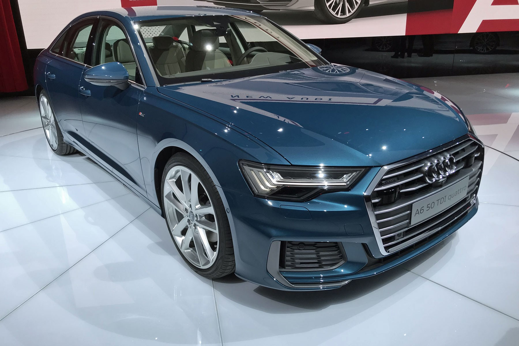 New Audi A6 at the 2018 Geneva motor show ...