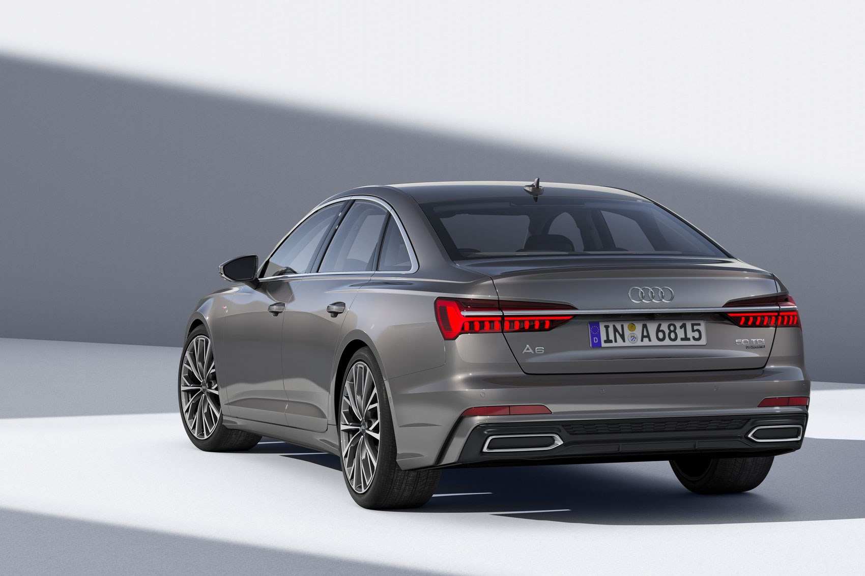 ... Rear of the Audi A6 at the 2018 Geneva motor show