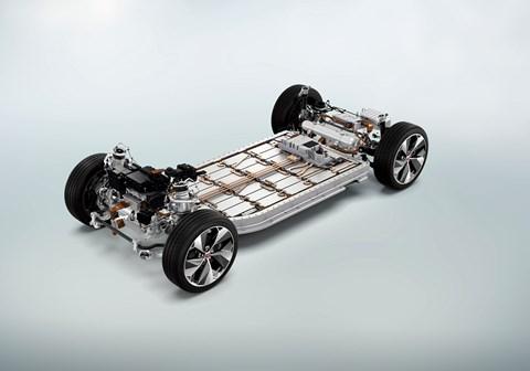 Skateboard platform for new electric Jaguar i-Pace