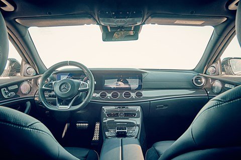 Inside the cabin of 2018 Mercedes-AMG E63 super-saloon