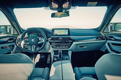 Cabin of new 2018 BMW M5