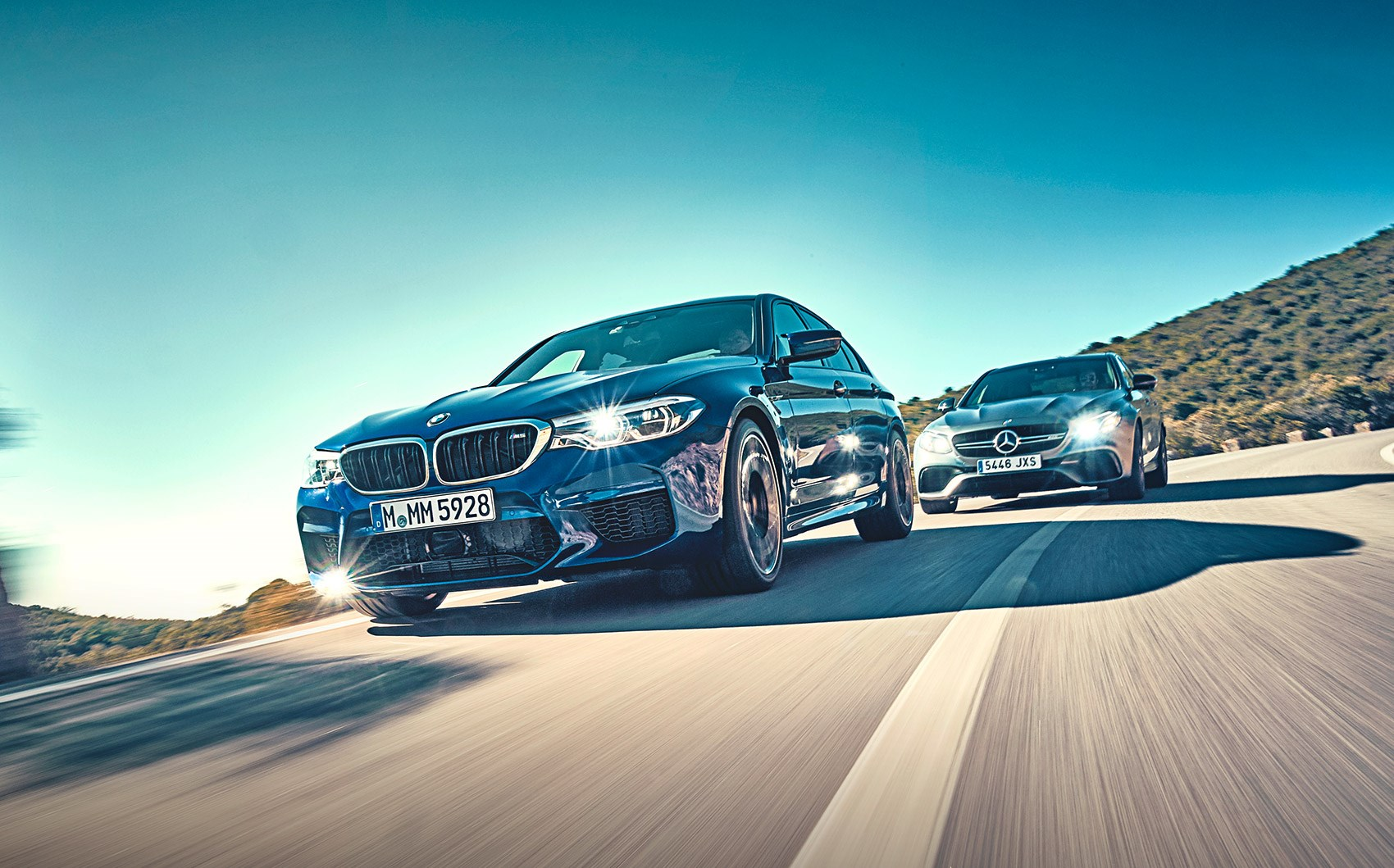 BMW M5 vs Mercedes-AMG E63 twin-test review specs prices | CAR Magazine