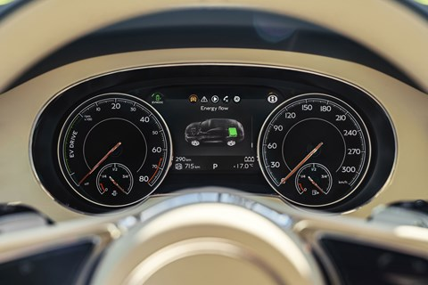 Bentley Bentayga Hybrid instruments