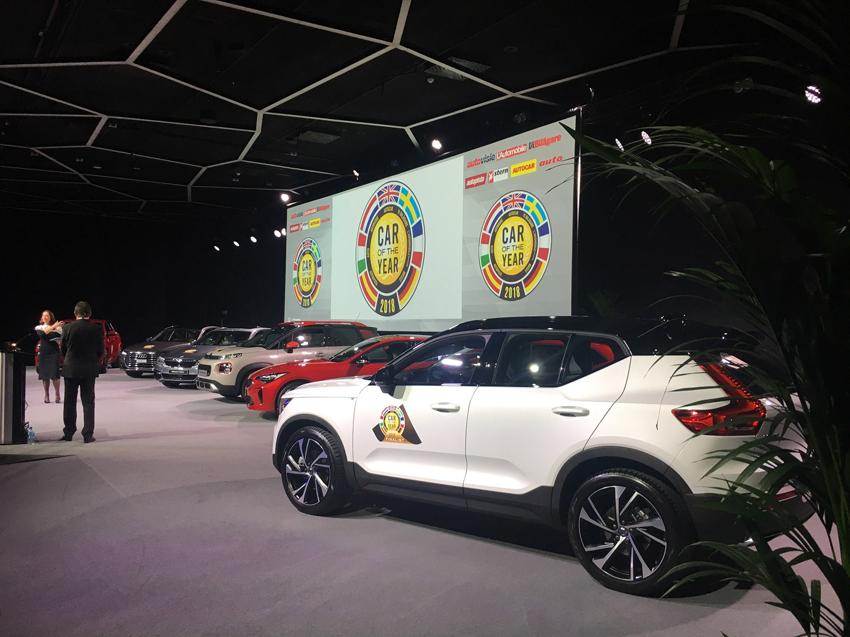 ... European Car Of The Year Trophy In Geneva The Volvo XC40 Wins The COTY  Gong