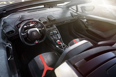 Huracan Performante Spyder interior
