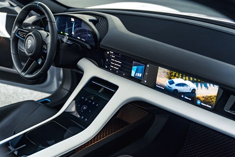 Interior of the Porsche Mission E Cross Turismo concept