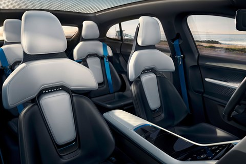 Porsche Mission E Cross Turismo concept seats