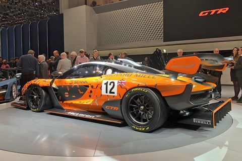 Incredibly track-focused McLarena Senna GTR at the 2018 Geneva motor show