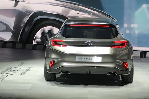 What a backside - this is an estate car concept Subaru can be proud of at the 2018 Geneva motor show