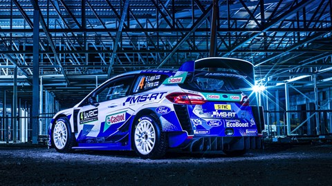 M-Sport Ford World Rally Team's EcoBoost-powered Ford Fiesta WRCs