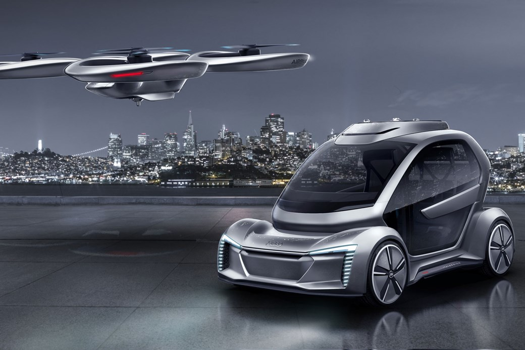 Can You Imagine Your Next Car Looking Like This? Audi Flying Car At Geneva  2018