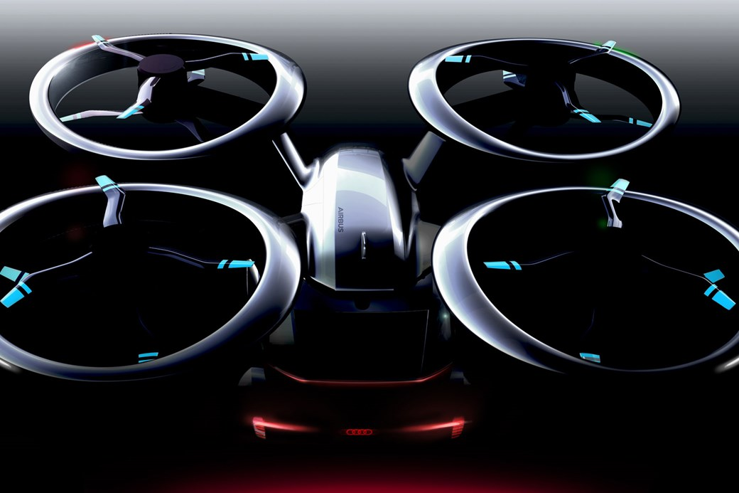 Audi Flying Car Overhead View