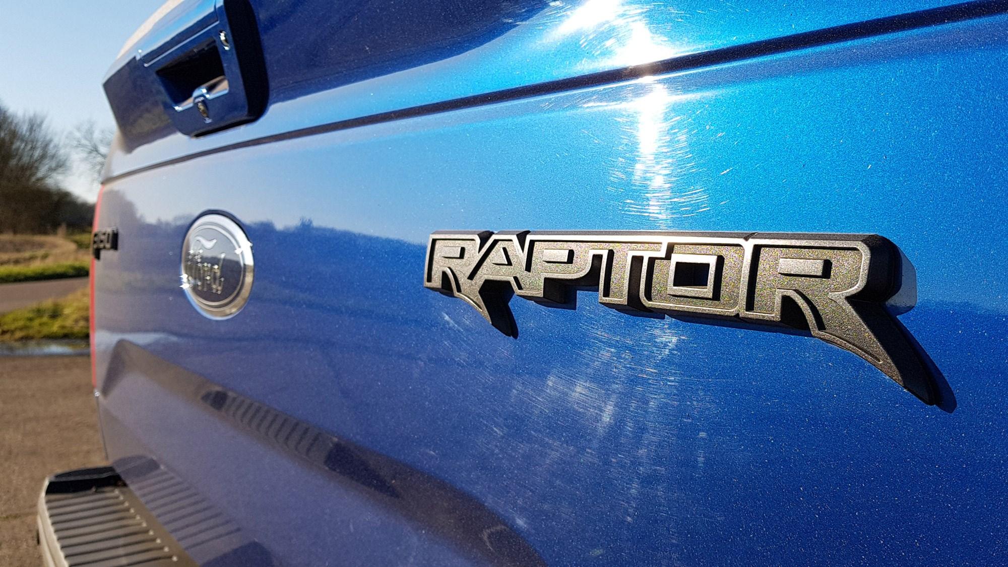Ford Raptor rear badge