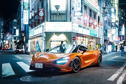 McLaren 720S Japan night