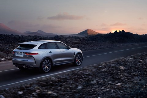 Jaguar F-Pace SVR rear tracking