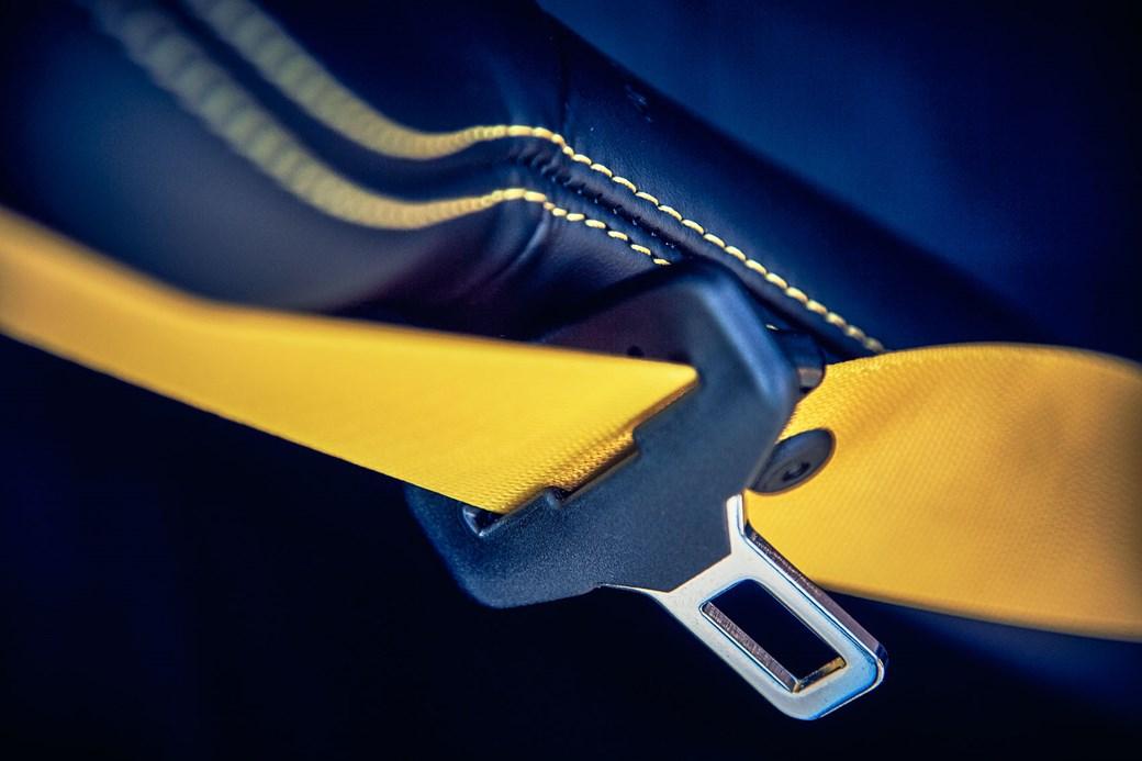 Porsche 911 Carrera T seatbelt