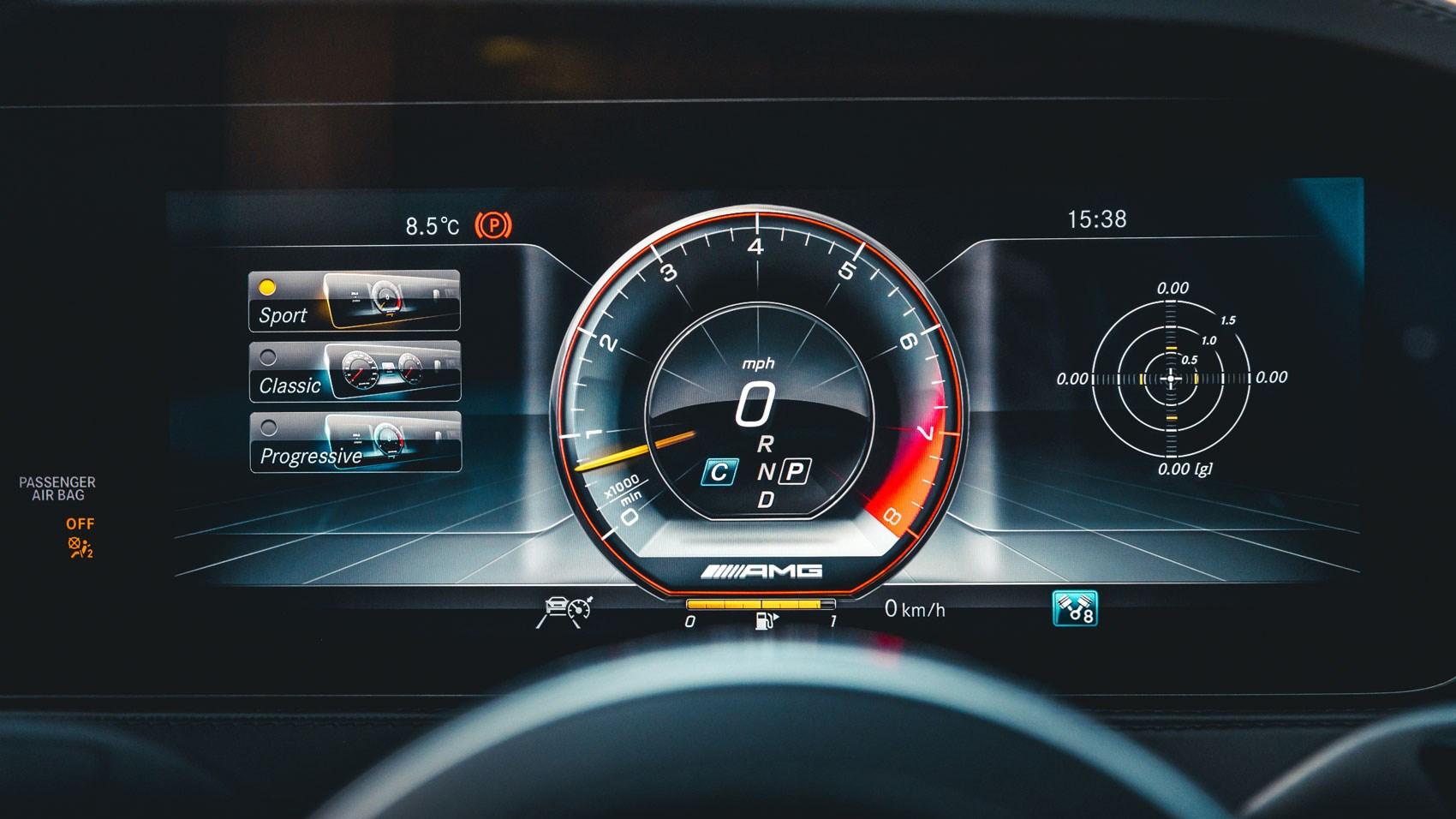 Mercedes-AMG S63 instrument cluster