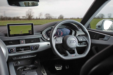 The interior of our Audi RS5: still a knock-out cabin