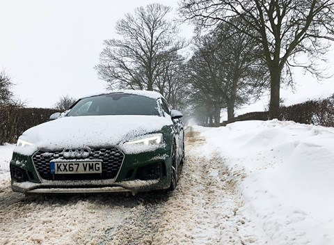 Audi RS5 Coupe in the snow: CAR magazine's winter test
