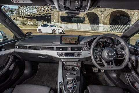 The interior of our Audi RS5 Coupe: very Teutonic, very sensible