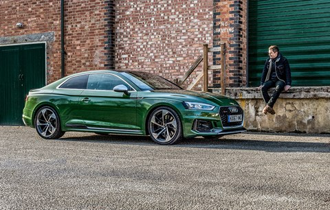 CAR magazine editor Ben Miller and the Audi RS5 Coupe