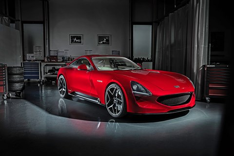 The new 2019 TVR Griffith: priced from around £90,000, on sale in 2019