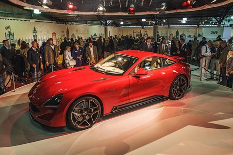The TVR Griffith is unveiled to the world at the Goodwood Revival in September 2017