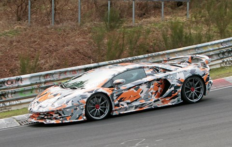 The fastest thing at the Nordschleife? We spy the Lamborghini Aventador SV Jota at the Nuburgring
