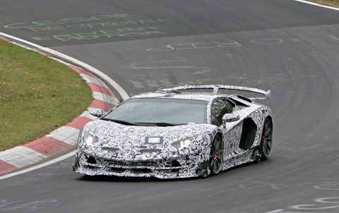 The new 2018 Lamborghini Aventador SV Jota spied on test: prices, specs and photos