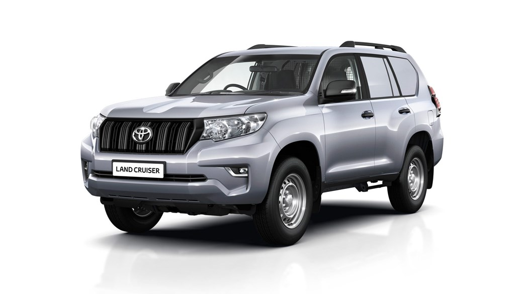 Or choose the five-door Toyota Land Cruiser Utility Commercial, from £28,509